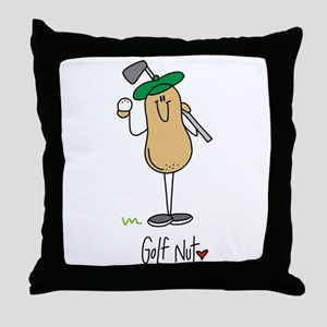 Golf Nut Throw Pillow